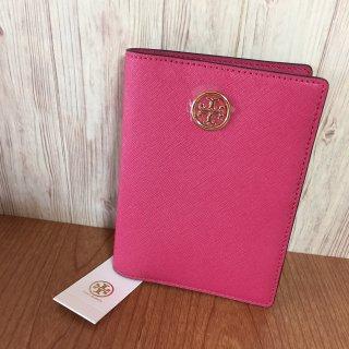 トリーバーチ パスポートケース TORY BURCH ROBINSON ピンク
