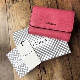 FURLA バビロン コンパクト 三つ折り財布 ピンク