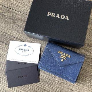 プラダ PRADA サフィアーノ コンパクト3つ折り財布