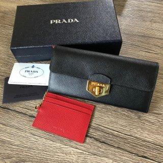 PRADA 高級 プラダ サフィアーノクロス 長財布
