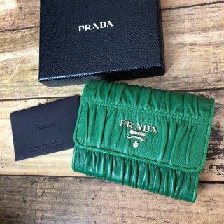 プラダ PRADA マトラッセ 三つ折り財布