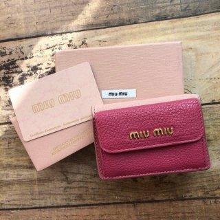 ミュウミュウ MIUMIU バイカラー 折財布 5MH0202