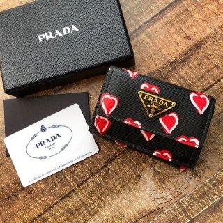 新品 プラダ ハート コンパクト三つ折り財布 1MH021