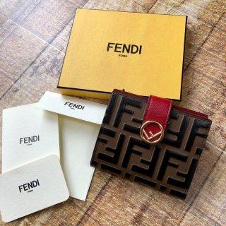 新品 FENDI フェンディ FF エフイズフェンディ 折り財布