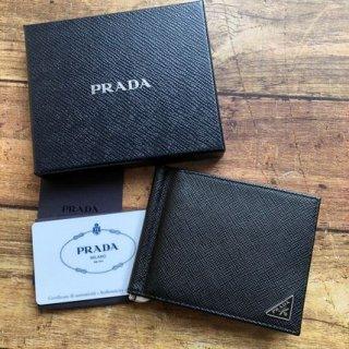 新品 PRADA プラダ サフィアーノ マネークリップ
