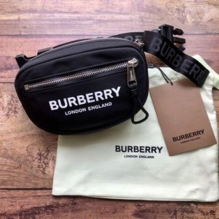 新品 BURBERRY バーバリー ロゴ ベルトバッグ