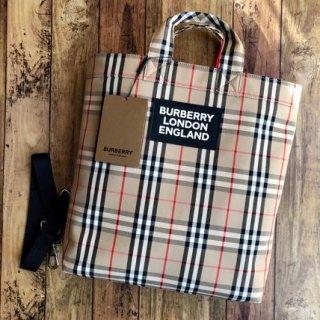 新品 BURBERRY バーバリー チェックトートバッグ