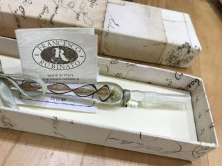 イタリア製FrancescoRubinatoの ガラスペンとインクセット(ゆうパック発送限定)