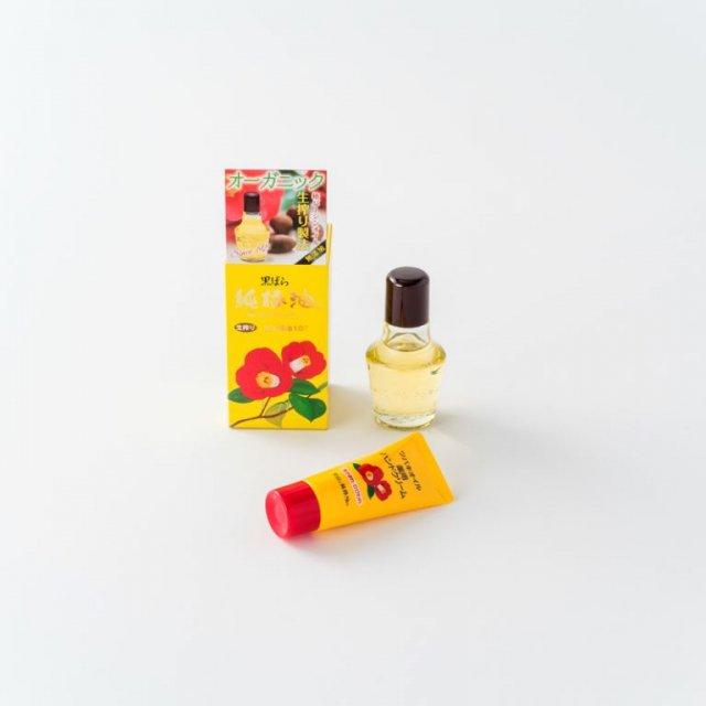 黒ばら純椿油とハンドクリームのセット