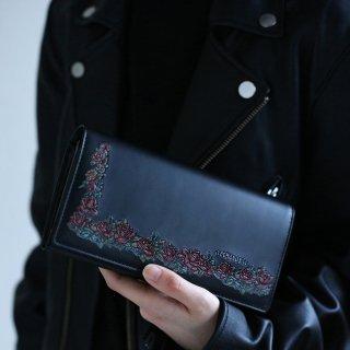 ローズリース かぶせがま口長財布