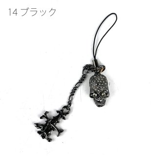 <img class='new_mark_img1' src='https://img.shop-pro.jp/img/new/icons20.gif' style='border:none;display:inline;margin:0px;padding:0px;width:auto;' />【SALE60%OFF】スカル&Aクロス ストラップ