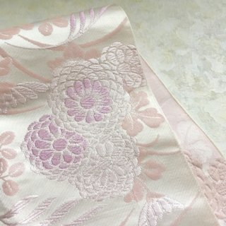 菊と萩の単衣名古屋帯