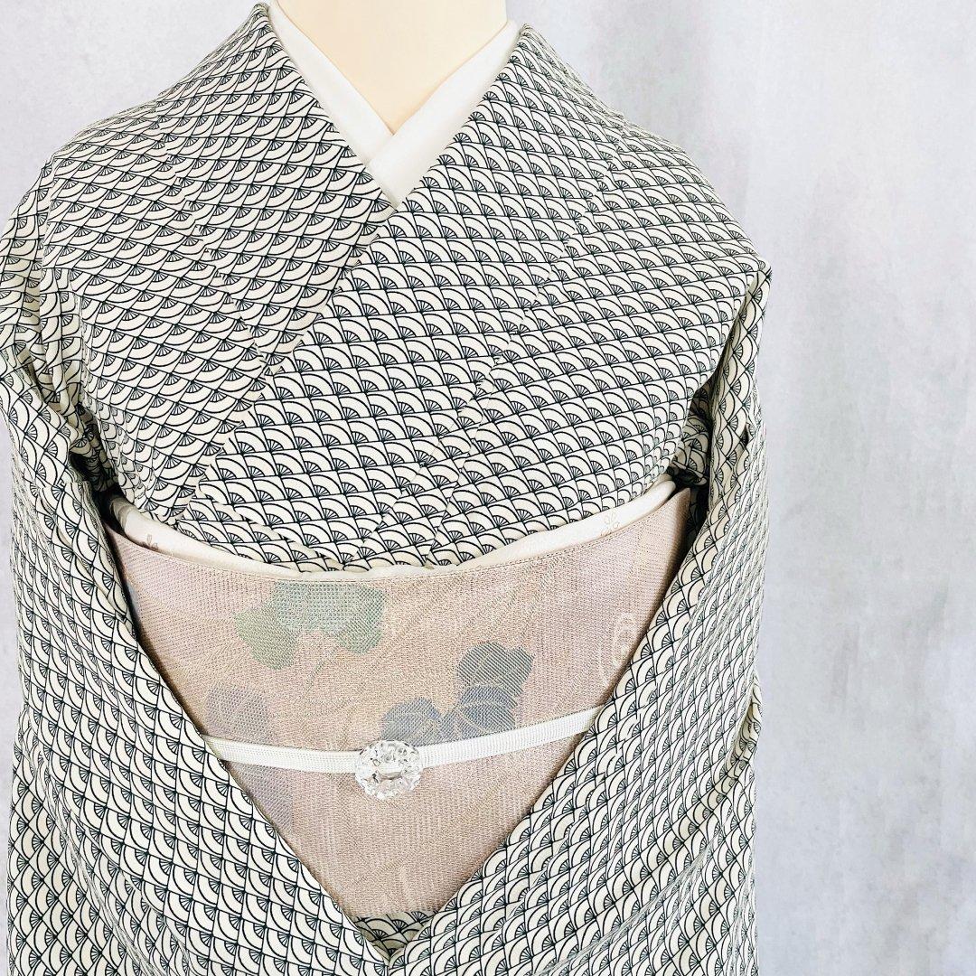 扇模様の小紋【単衣】