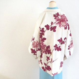 乱菊の交織羽織