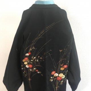 金彩花束の黒羽織