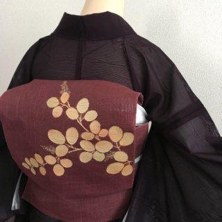 紗・ 萩模様の名古屋帯