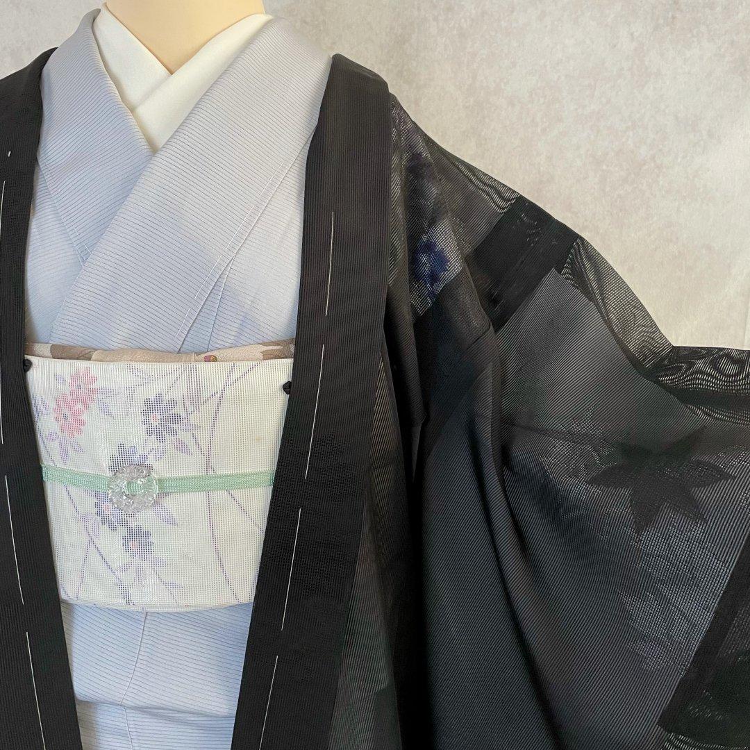 紗・楓模様の夏羽織