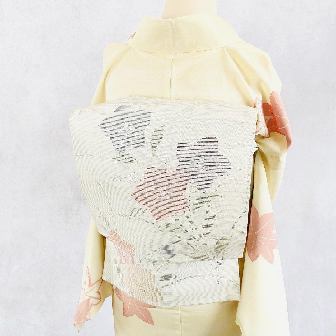 絽・桔梗の織り出し袋帯