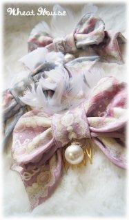 ロリータ Wheat House パールチャームヘアアクセサリー りぼん 甘ロリ 姫ロリ パステルカラー クラシカル 【ポスト投函対応】loli0034