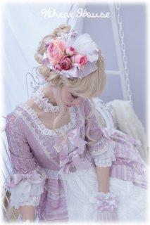 ロリータ Wheat House スイートロイヤル羽根つきミニ帽子 ヘッドドレス 花 りぼん 甘ロリ 姫ロリ