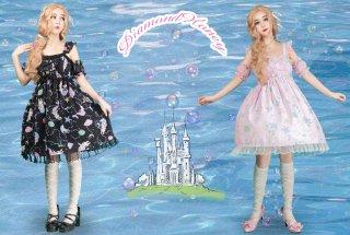 ロリータファッション ロリータ Diamond Honey うさぎ人魚姫ジャンパースカート jskのみ 甘ロリ ゆめかわ