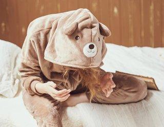 ロリータ ナイトウェア モコモコくまのパジャマ 上下セット パジャマのみ あったか 甘ロリ 部屋着