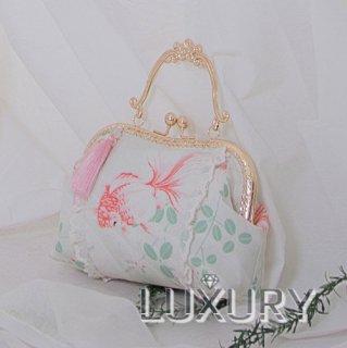ロリータ Milu Forest 華ロリ 遊魚の夢ハンドバッグ バッグのみ 中華風 qiloli 金魚 宮廷 姫 がま口