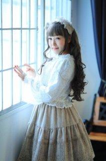 Fairy wish 毛糸のヘッドドレス レース 冬 ふわふわ ラメ 上品 クラシカル