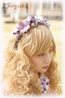 Fairy wish クラシカルブーケのカチューシャ クレイクラフト フラワー ヘッドドレス 手作り エレガント