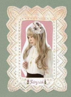 Fairy wish クラシカルブーケのヘッドドレス クレイクラフト オーガンジー リボン アンティーク 薔薇