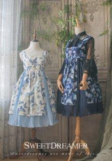 ロリータ Sweet Dreamer Vintage Qilolita 華ロリ 蝶のジャンパースカート ジャンスカのみ ブラウス別売り プリーツ 蝶