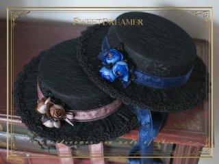 ロリータ Sweet Dreamer Vintage クラシカルカンカン帽 帽子のみ ハット リボン クラロリ 華ロリ ゴスロリ