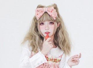 ロリータ strawberry angel SP いちごカチューシャ KC ヘッドドレス ヘアアクセサリー リボン 甘ロリ