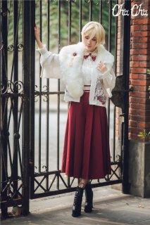 ロリータファッション NyaNya 和風 ワイドパンツ パンツのみ ハイウエスト 袴風 プリーツ リボン 和ロリ クラロリ クラシカル loli1487