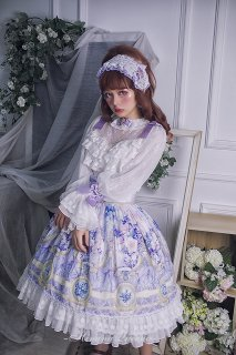 ロリータ HinanaQueena 妖精の秘密の花園 スカート スカートのみ ハイウエスト 姫ロリ 甘ロリ リボン レース loli1571