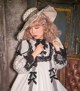 ロリータ HinanaQueena スウィートドット ハット 帽子 貴婦人 水玉 貴族 クラシカル 甘ロリ 姫ロリ loli1580