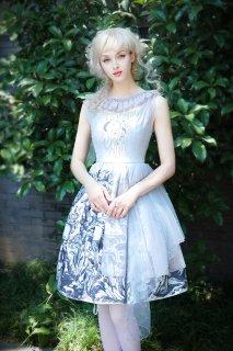 ロリータ Neo Ludwig 女神のジャンパースカート ノースリーブ チュールケープ 月 ゴスロリ 神話風 フリル ドレス ワンピ loli1916