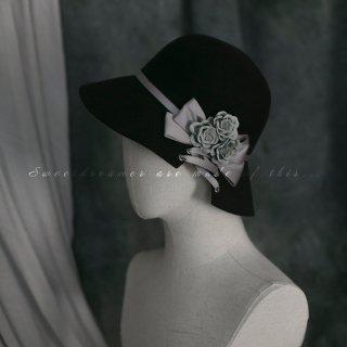 ロリータ Sweet Dreamer Vintage 羊毛 帽子 コサージュ 淑女 ゴスロリ クラロリ クラシカル 上品 秋冬 loli1952