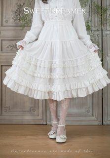 ロリータ Sweet Dreamer Vintage スカート 重ね フリル ミドル丈 ロング丈 クラロリ 甘ロリ ゴスロリ loli2006