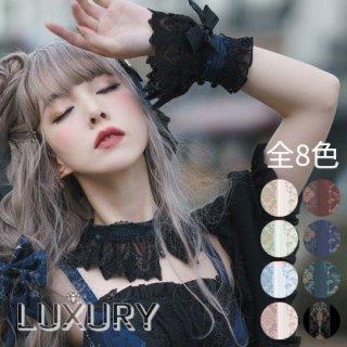 【受注生産】NyaNya 十六夜の歌姫 幅広レース クラシカル カフス リボン 可愛い 手首 上品 オシャレ