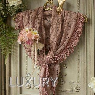 ロリータ Sweet Dreamer Vintage フラワーレース フリンジ デザイン ショール ロング ピンク 春 クラシカル 花 防寒 上品 loli119001