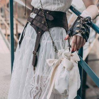 スチームパンク コルセット ベルト steampunk ブラウン 雑貨 小物 スタッズ 通年  ゴスロリ ロリータファッション loli2117