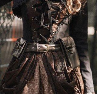 スチームパンク ベルト steampunk 通年 ポケット付き キーリング付き  カジュアル ロリータファッション loli2174