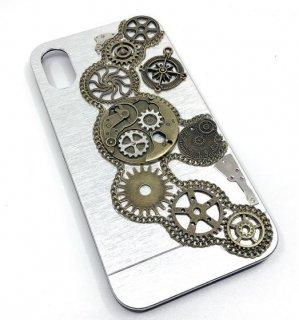 スチームパンク スマホケース iPhoneX 10 ユニセックス ギア かっこいい ハンサム カジュアル ロリータファッション loli2220
