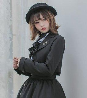 ロリータ ジャケット Dolly Delly ライトアウター 春物 ブラック ホワイト ショート丈 かわいい クラシカル きれいめ 上品 発表会 お呼ばれ ロリータファッション loli2248