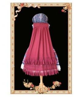 ロリータ マント ケープ ワイン かわいい ふんわり ミディアム 小物 ファッション雑貨 おでかけ ベール かわいい フェミニン 通年 甘ロリ ゴスロリ ロリータファッション loli2441
