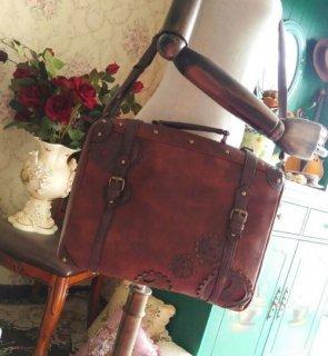 スチームパンク トラベル バッグ 2way トート リュック かわいい かばん パンク steampunk ブラウン レトロ ギア モチーフ 大きめ 収納力 大容量 おでかけ  loli2518