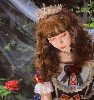 ロリータ ブライダル ティアラ ヘッドドレス ヘアアクセサリ ゴールド ラインストーン ビジュー 姫ロリ クラウン かわいい キュート ファッション雑貨 小物 通年 ドレス パ loli2617