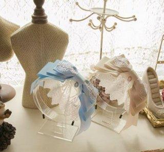 ロリータ 段々 おリボン カチューシャ レース カラバリ豊富 甘ロリ 通年 ガーリー かわいい キュート フリル ユメかわいい 人気 トレンド ヘッドドレス 雑貨 小物 Lolita