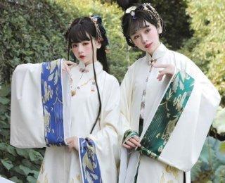 ロリータ 羽織り 3色 華ロリ チャイナ 中国風 長袖 着物 ガウン グリーン ブルー レッド